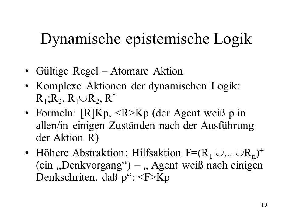 Dynamische epistemische Logik