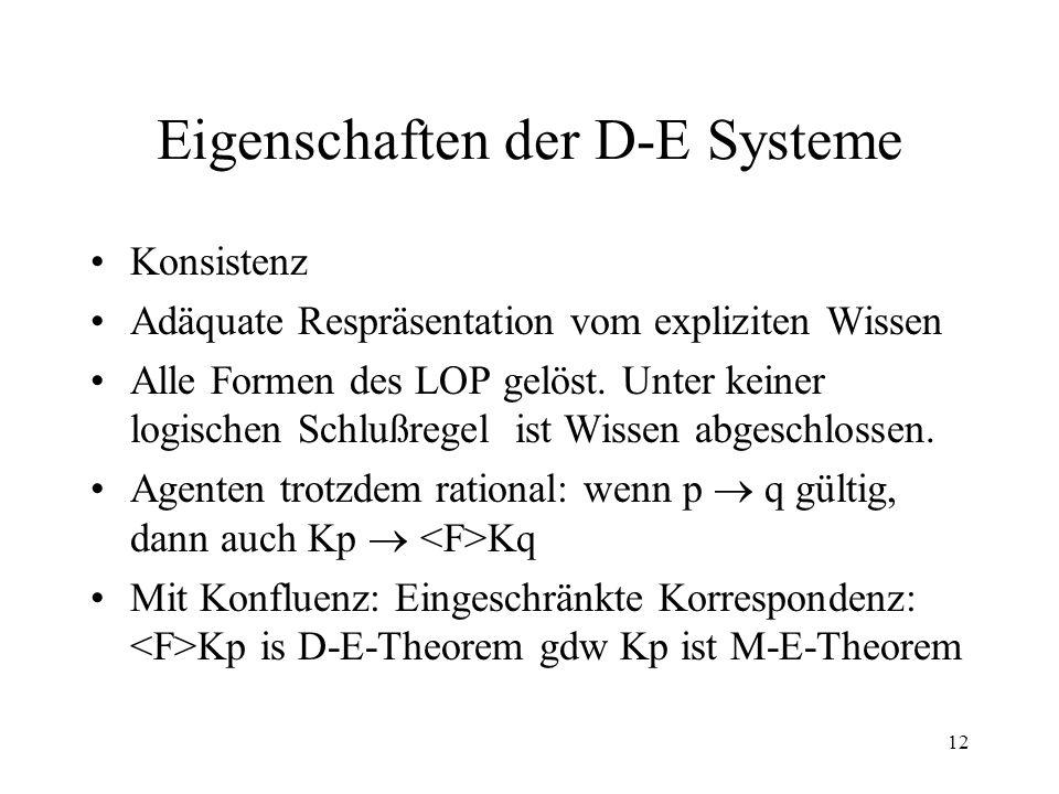 Eigenschaften der D-E Systeme