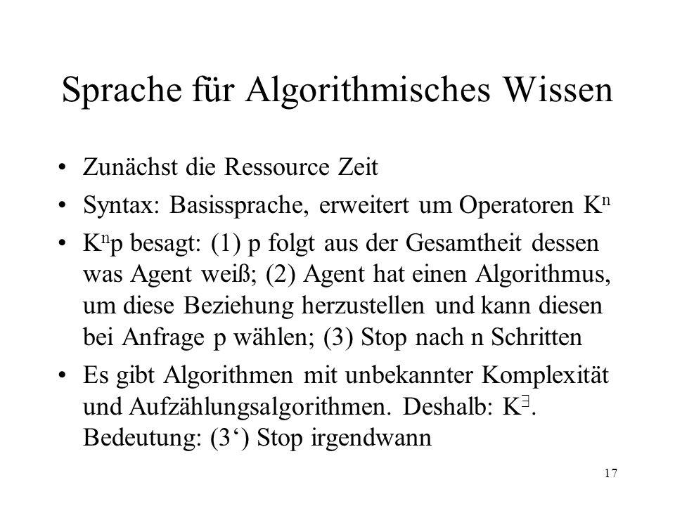 Sprache für Algorithmisches Wissen