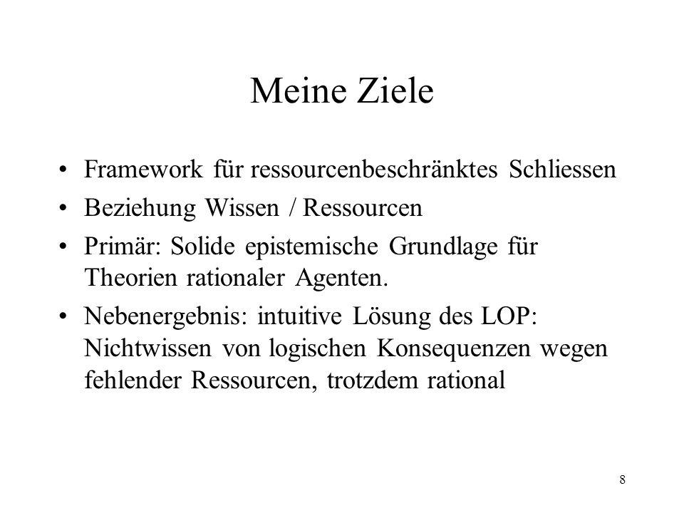 Meine Ziele Framework für ressourcenbeschränktes Schliessen