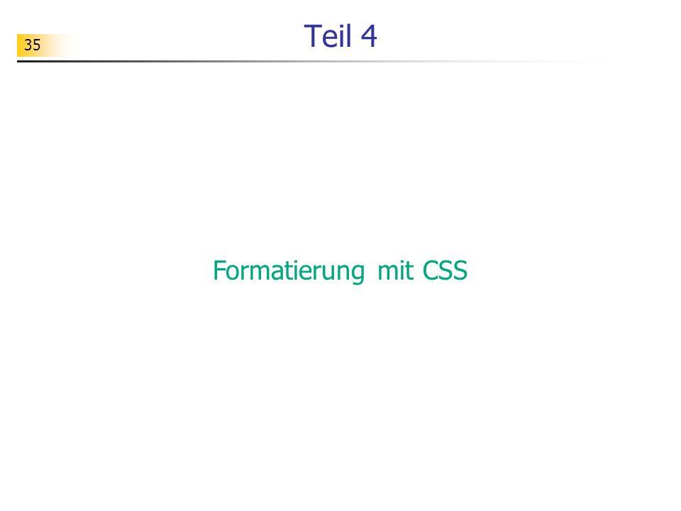 Teil 4 Formatierung mit CSS