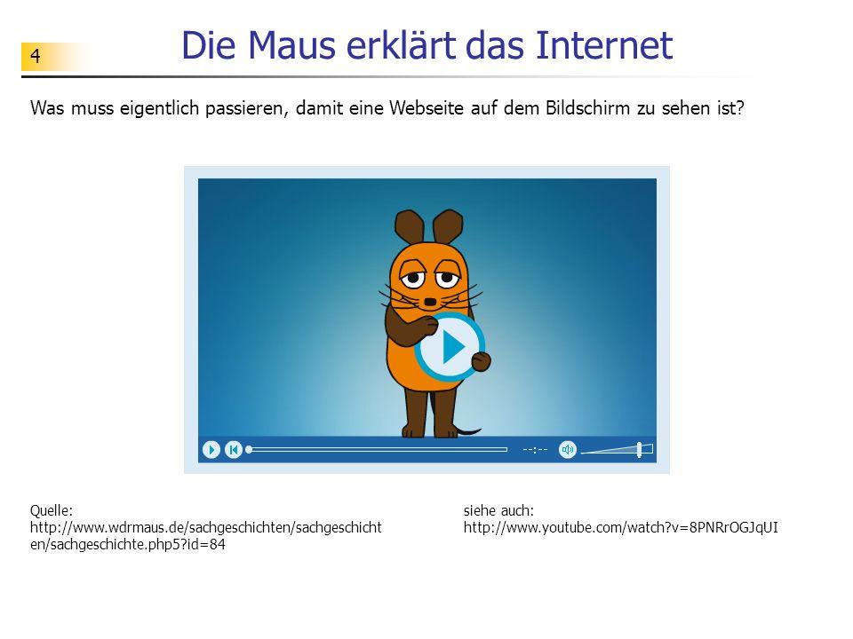 Die Maus erklärt das Internet