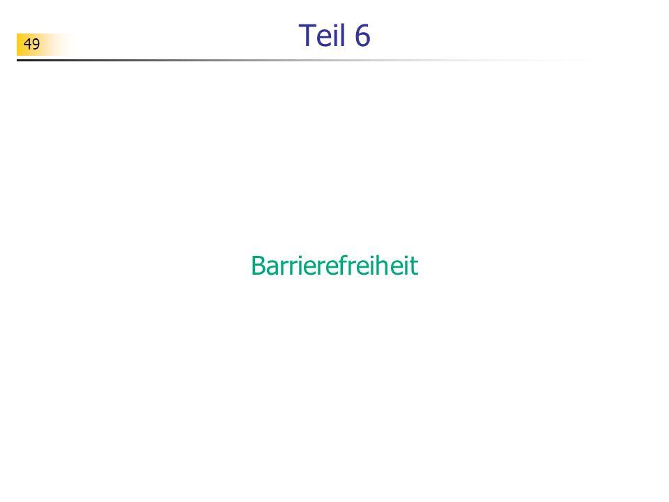 Teil 6 Barrierefreiheit