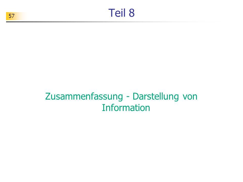 Zusammenfassung - Darstellung von Information