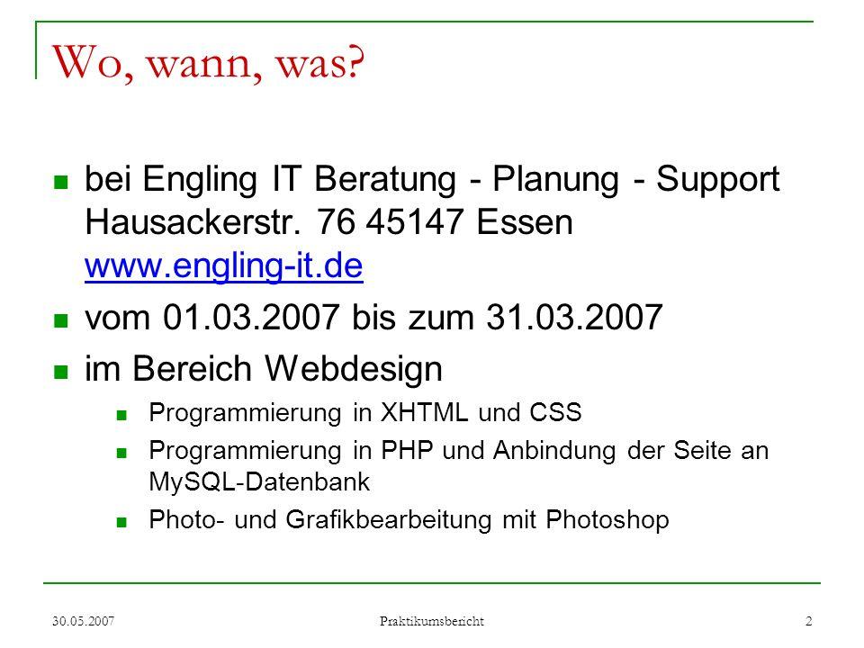 Wo, wann, was bei Engling IT Beratung - Planung - Support Hausackerstr. 76 45147 Essen www.engling-it.de.