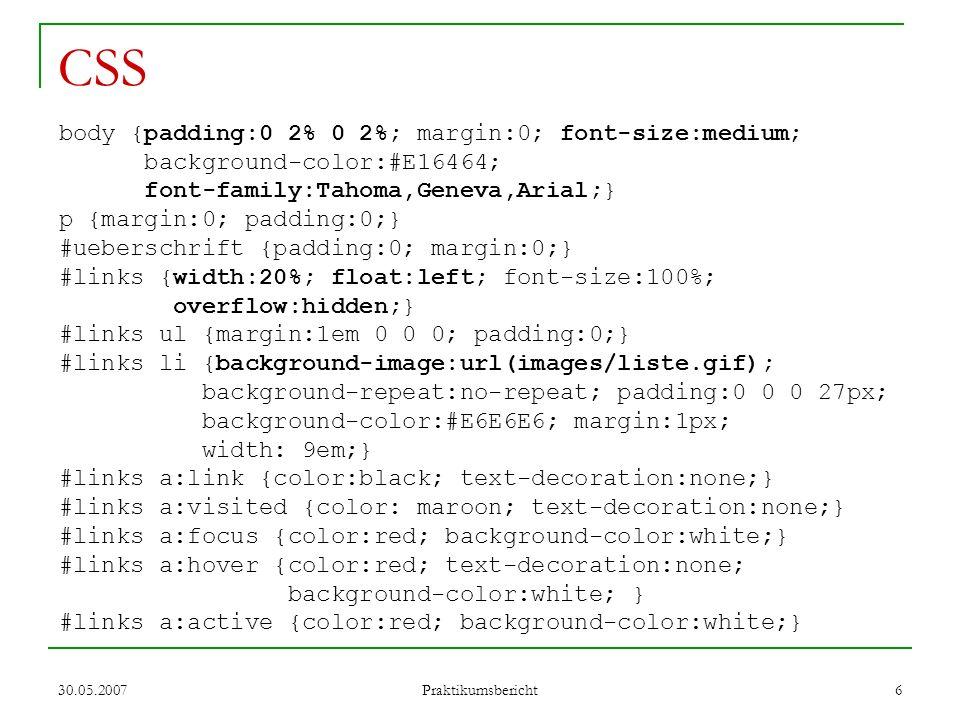 CSS body {padding:0 2% 0 2%; margin:0; font-size:medium;