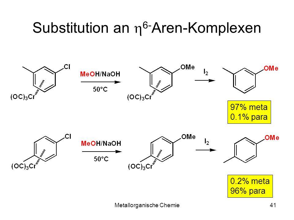Substitution an h6-Aren-Komplexen
