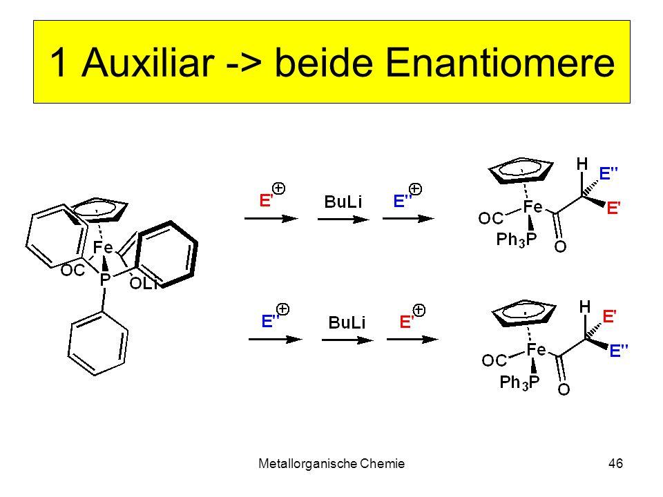 1 Auxiliar -> beide Enantiomere