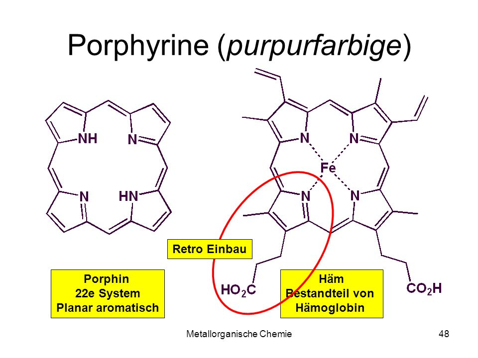 Porphyrine (purpurfarbige)
