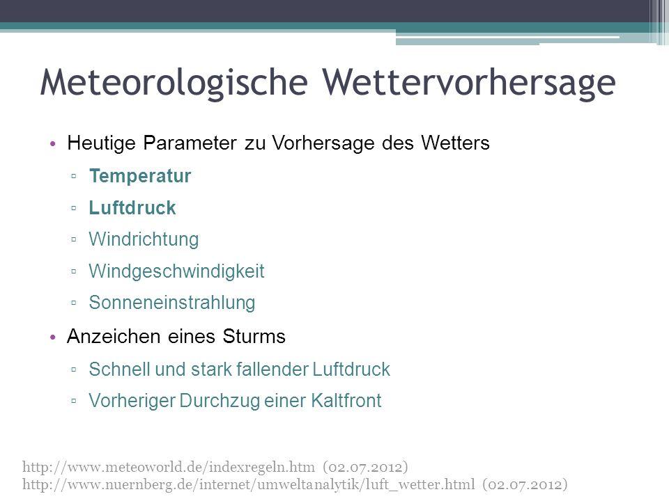 Meteorologische Wettervorhersage