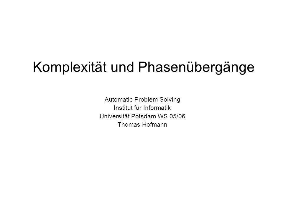 Komplexität und Phasenübergänge