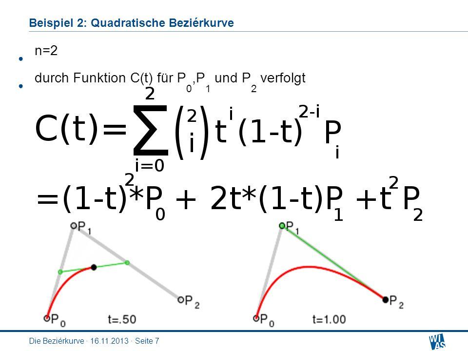 Beispiel 2: Quadratische Beziérkurve