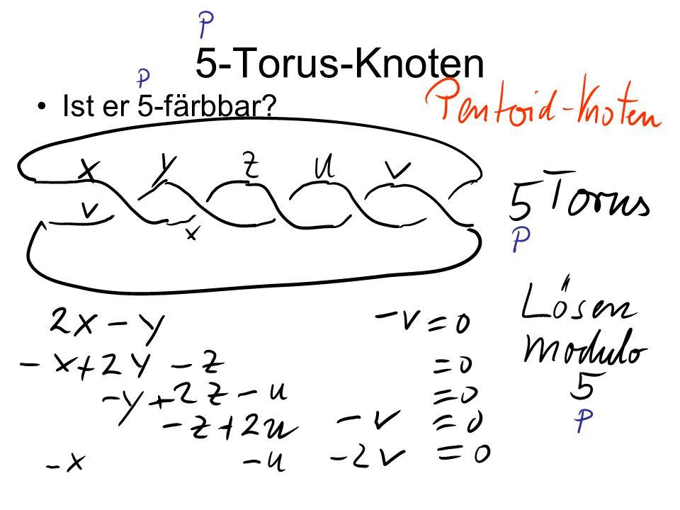 5-Torus-Knoten Ist er 5-färbbar