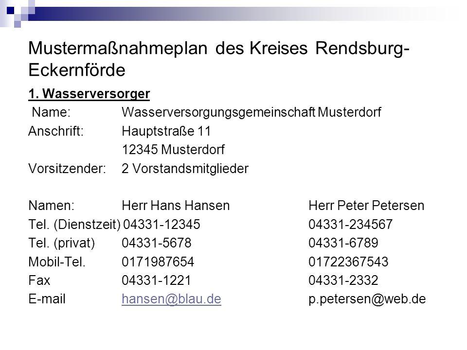 Mustermaßnahmeplan des Kreises Rendsburg-Eckernförde