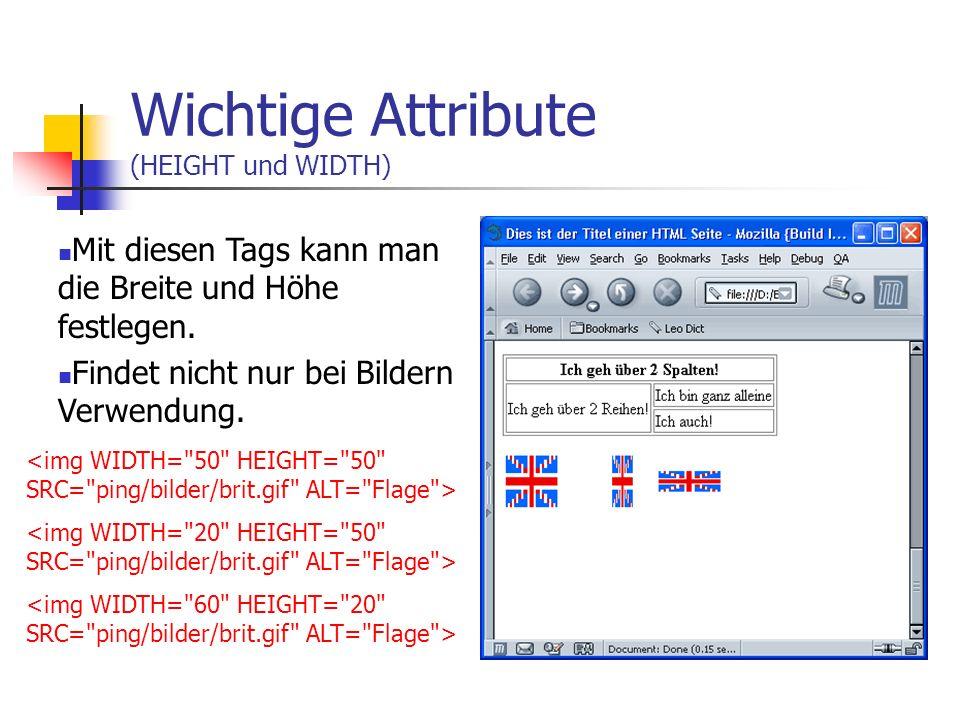 Wichtige Attribute (HEIGHT und WIDTH)