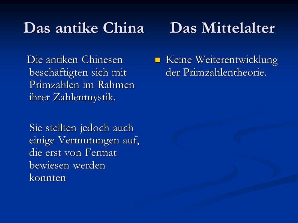 Das antike China Das Mittelalter