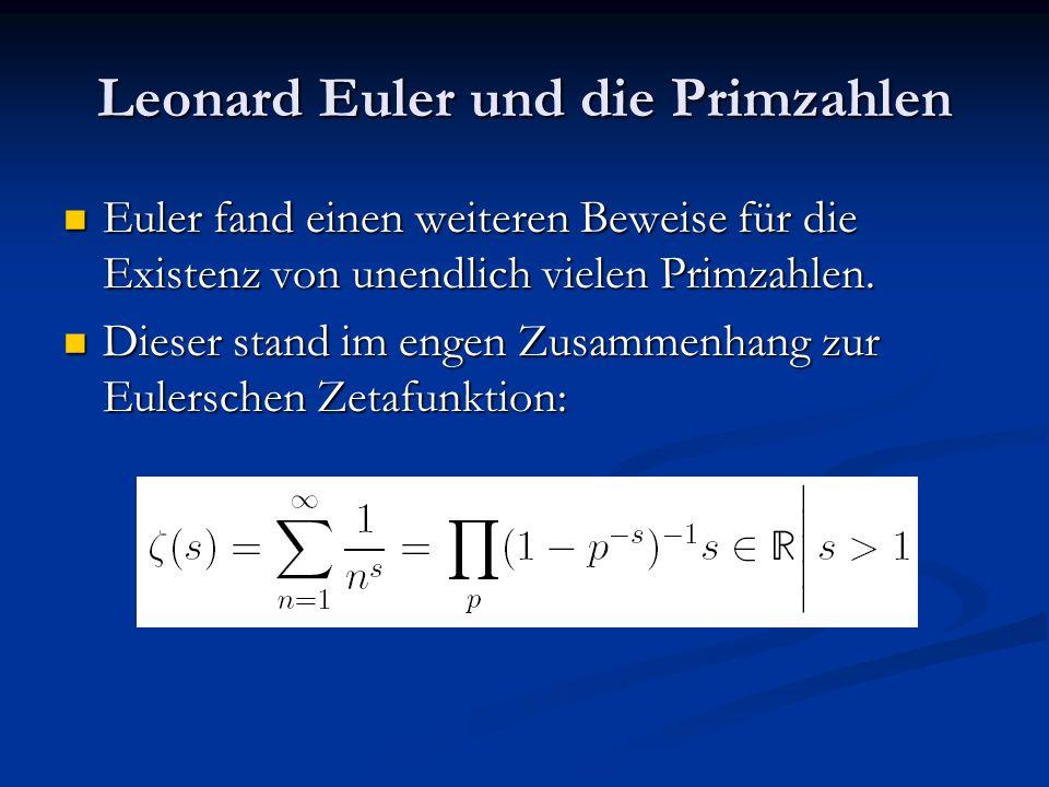 Leonard Euler und die Primzahlen