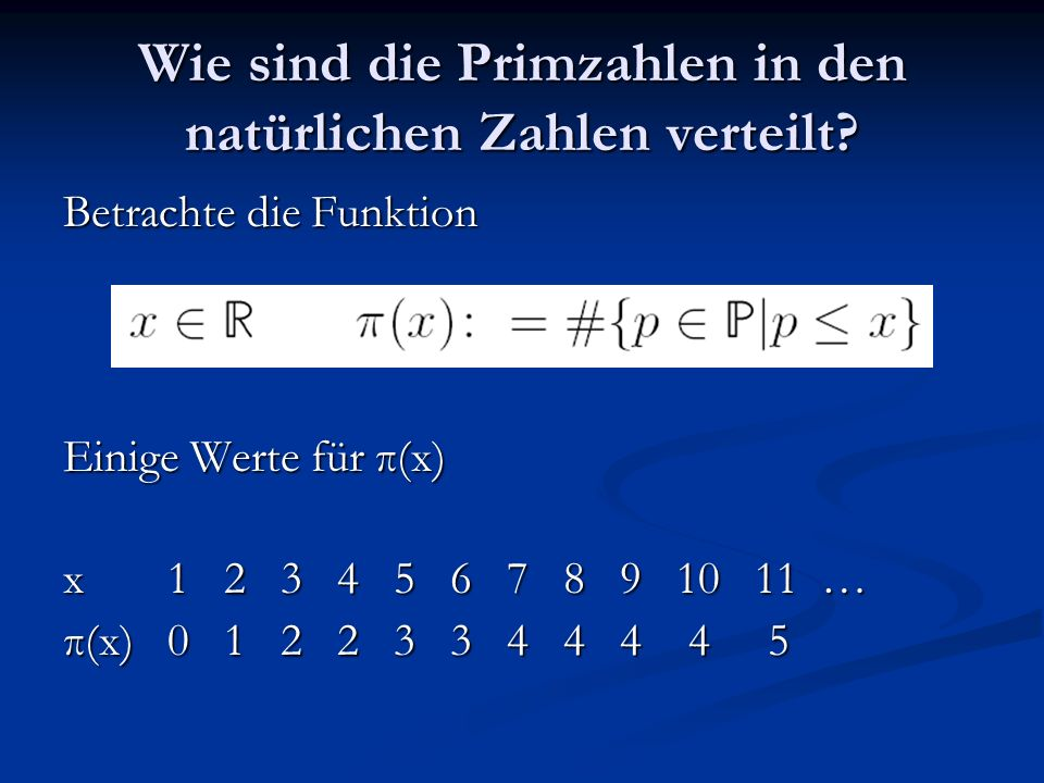 Wie sind die Primzahlen in den natürlichen Zahlen verteilt