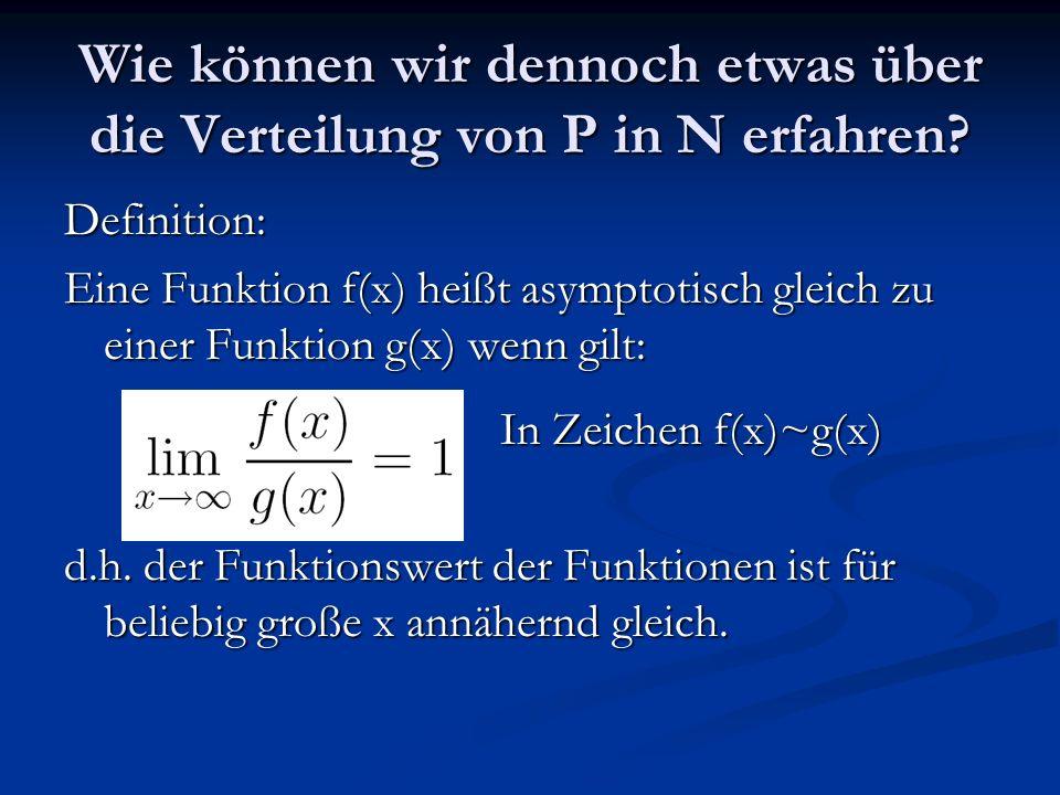 Wie können wir dennoch etwas über die Verteilung von P in N erfahren