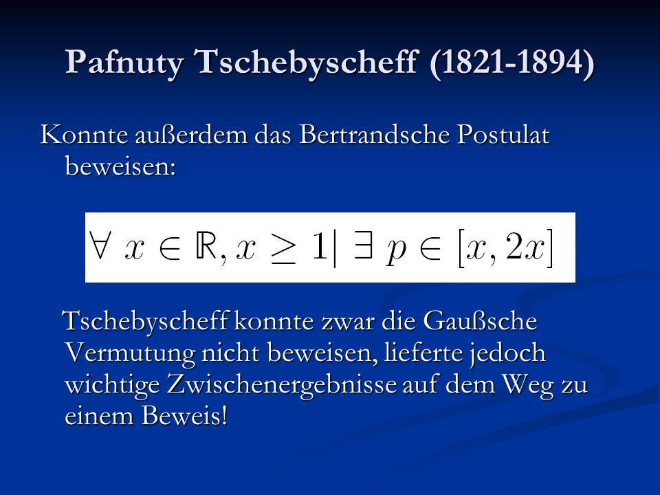Pafnuty Tschebyscheff (1821-1894)