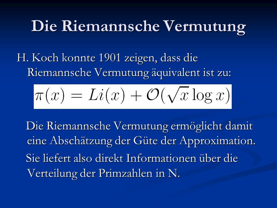 Die Riemannsche Vermutung