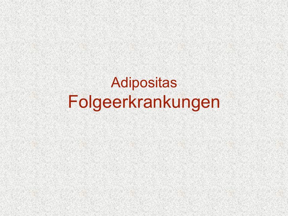 Adipositas Folgeerkrankungen