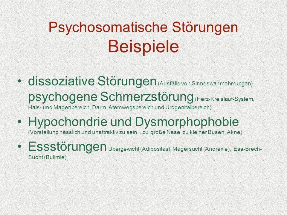 Psychosomatische Störungen Beispiele