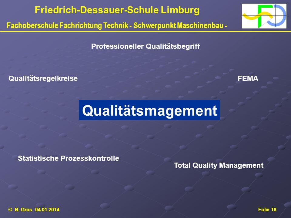 Qualitätsmagement Professioneller Qualitätsbegriff