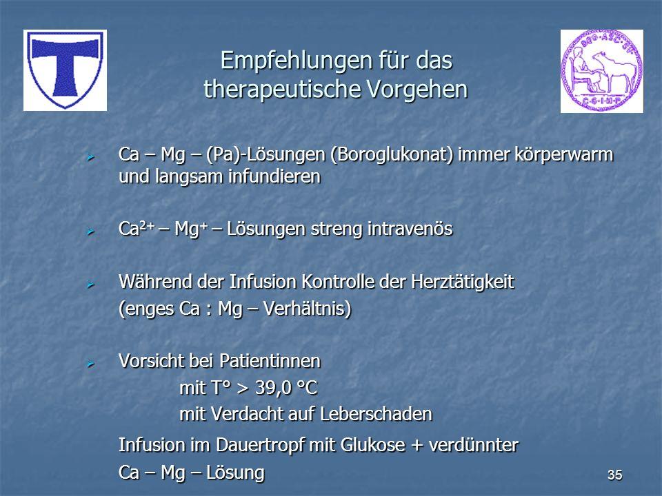 Empfehlungen für das therapeutische Vorgehen