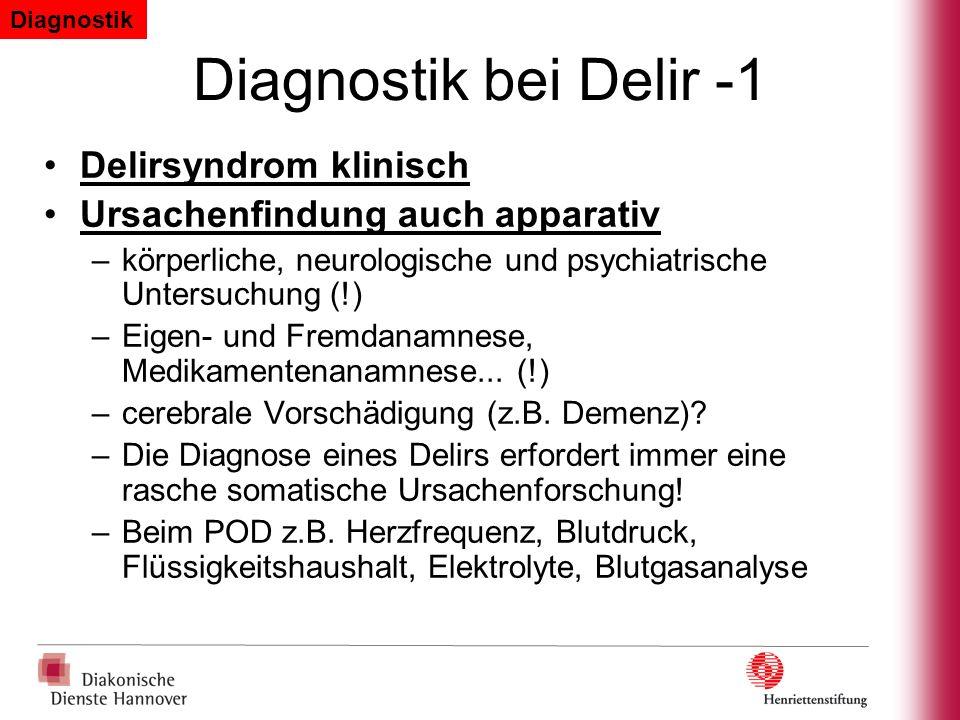 Diagnostik bei Delir -1 Delirsyndrom klinisch