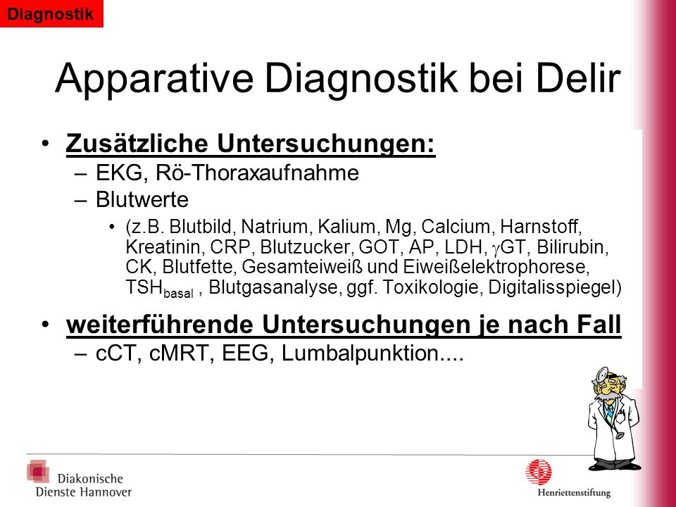 Apparative Diagnostik bei Delir
