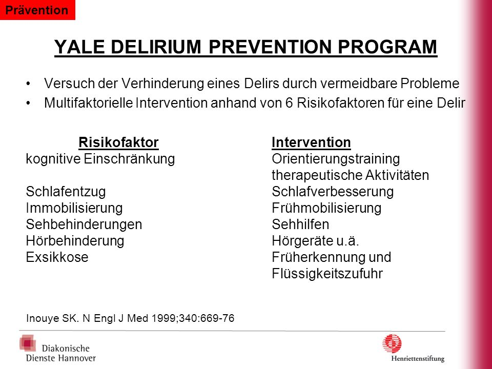 YALE DELIRIUM PREVENTION PROGRAM