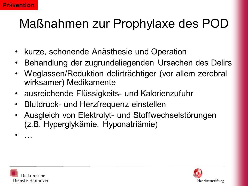 Maßnahmen zur Prophylaxe des POD
