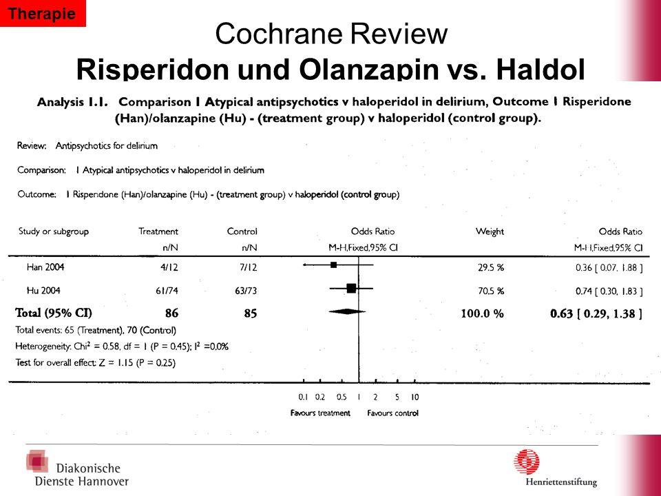 Cochrane Review Risperidon und Olanzapin vs. Haldol