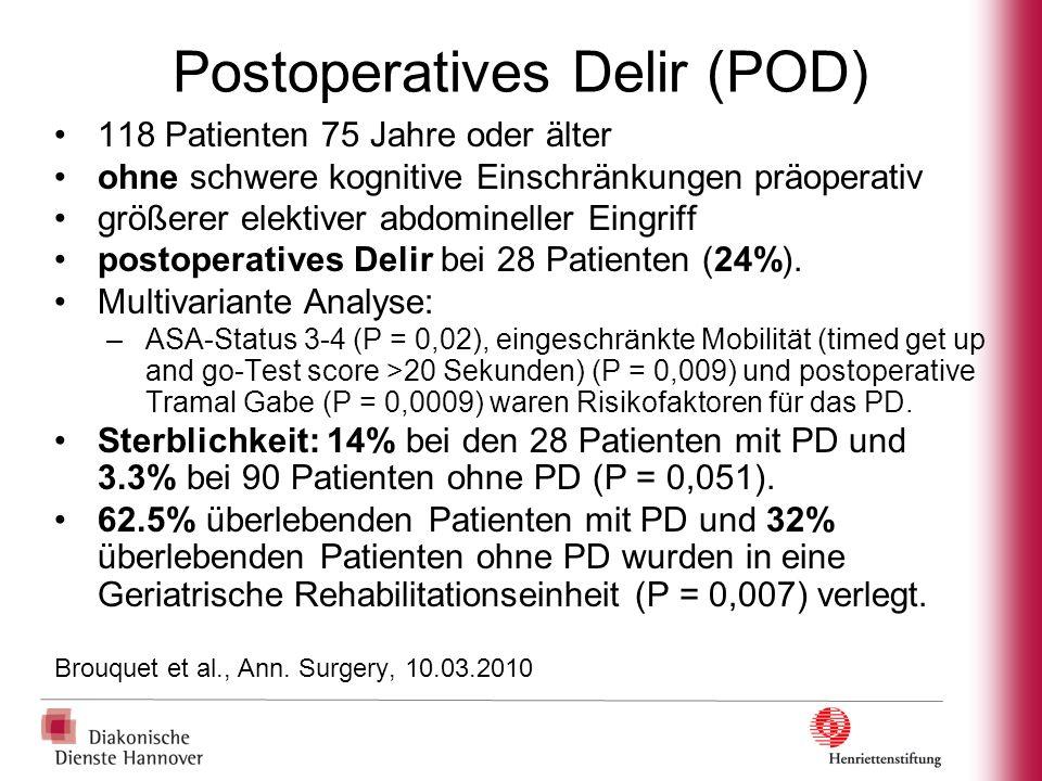 Postoperatives Delir (POD)