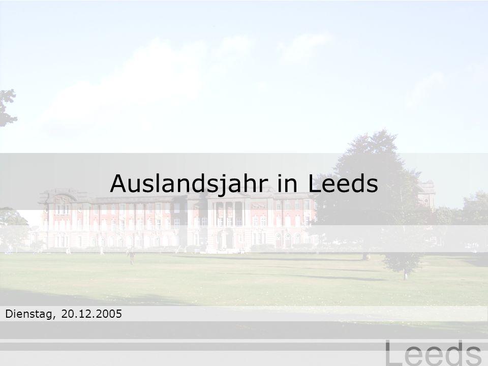 Auslandsjahr in Leeds