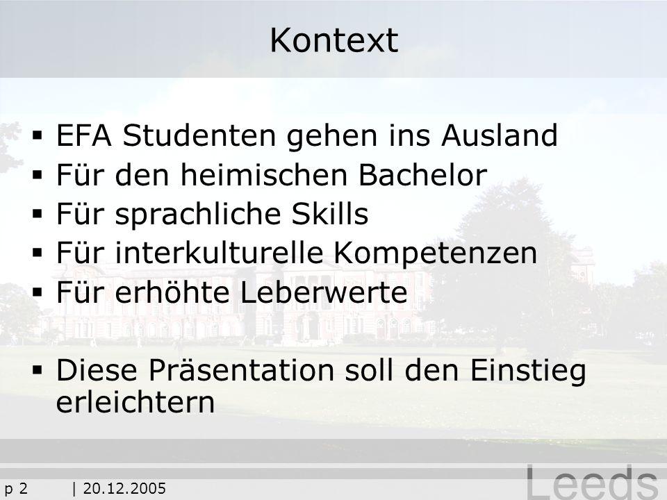 Kontext EFA Studenten gehen ins Ausland Für den heimischen Bachelor