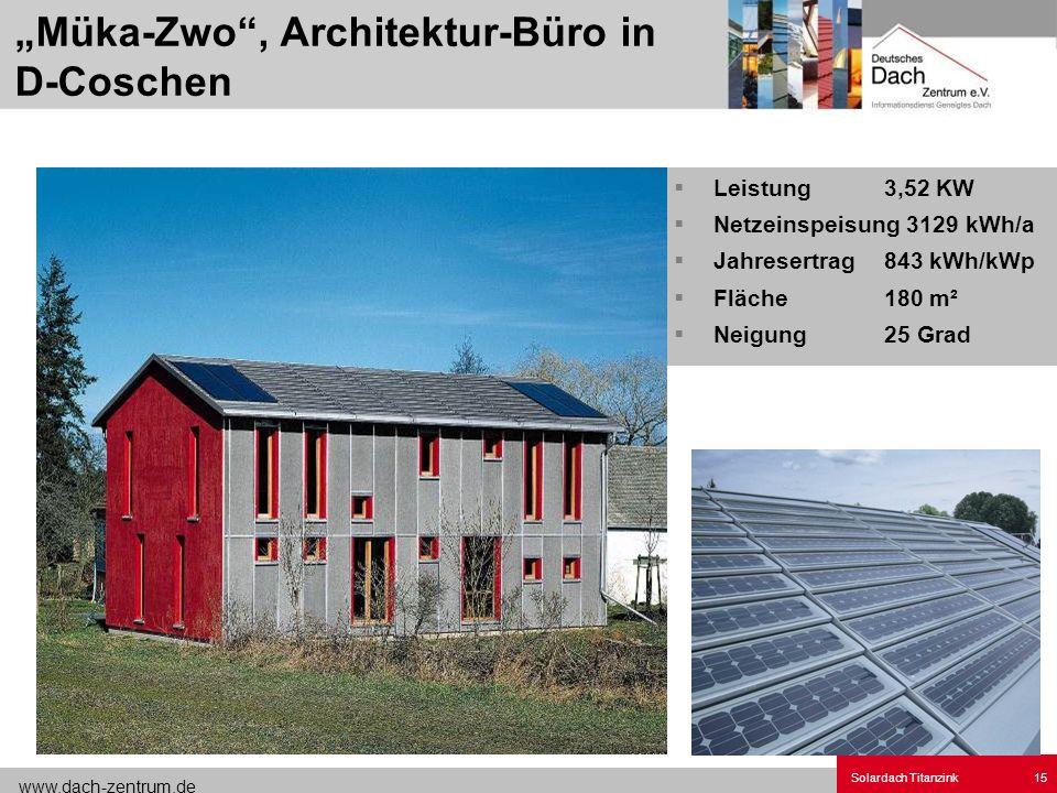 """""""Müka-Zwo , Architektur-Büro in D-Coschen"""