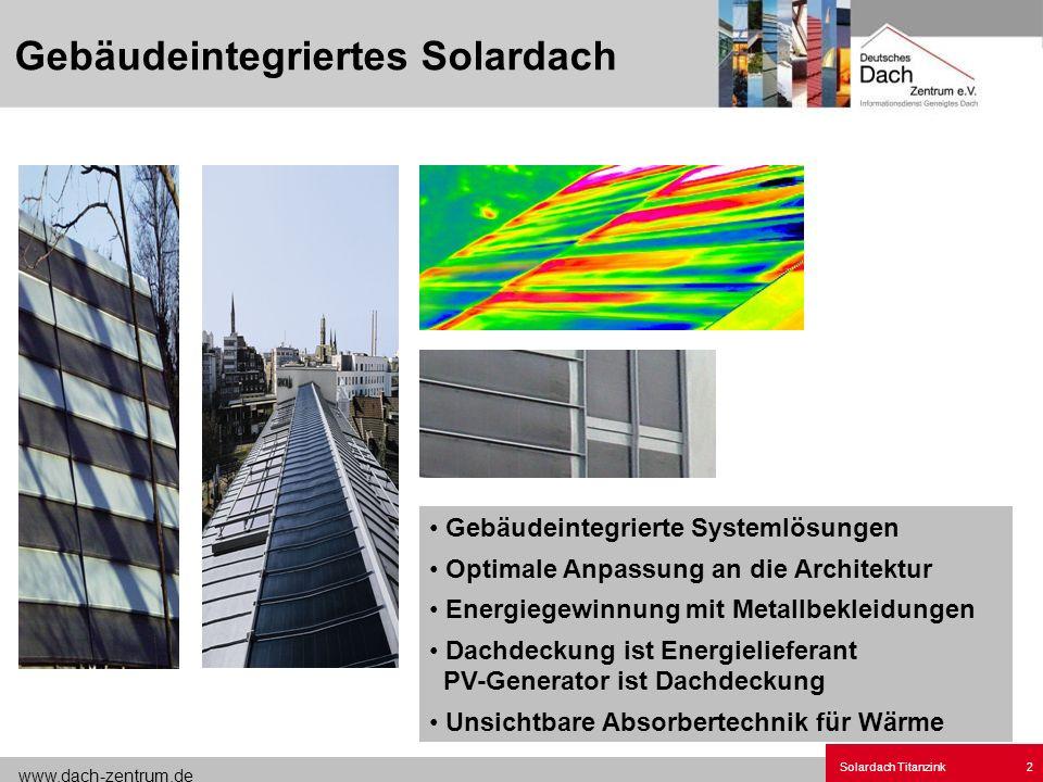 Gebäudeintegriertes Solardach