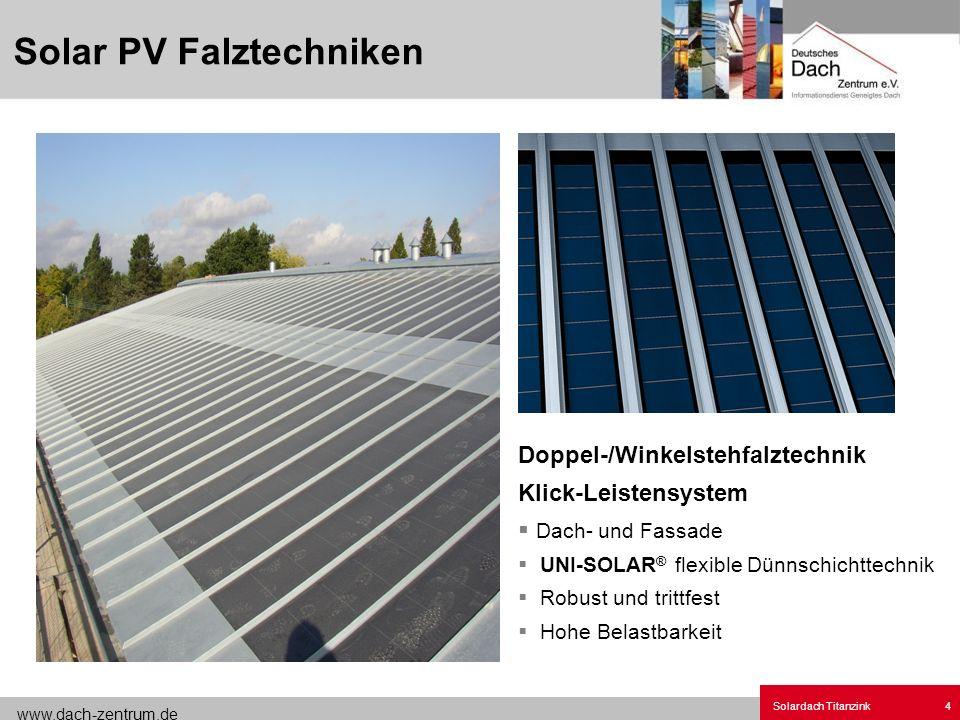 Solar PV Falztechniken