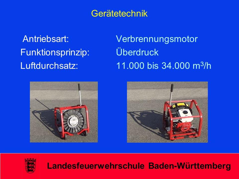 Funktionsprinzip: Überdruck Luftdurchsatz: 11.000 bis 34.000 m3/h