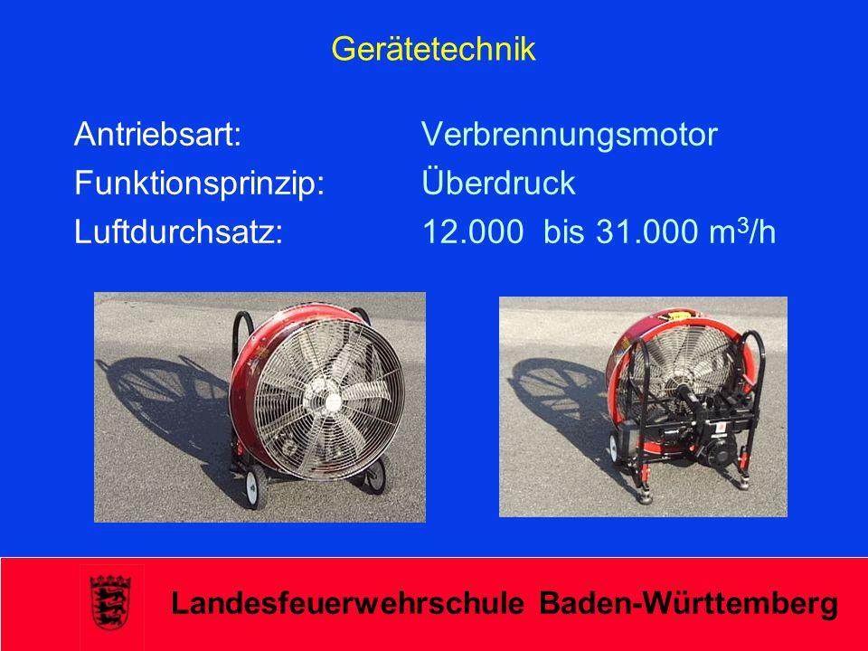 Antriebsart: Verbrennungsmotor Funktionsprinzip: Überdruck