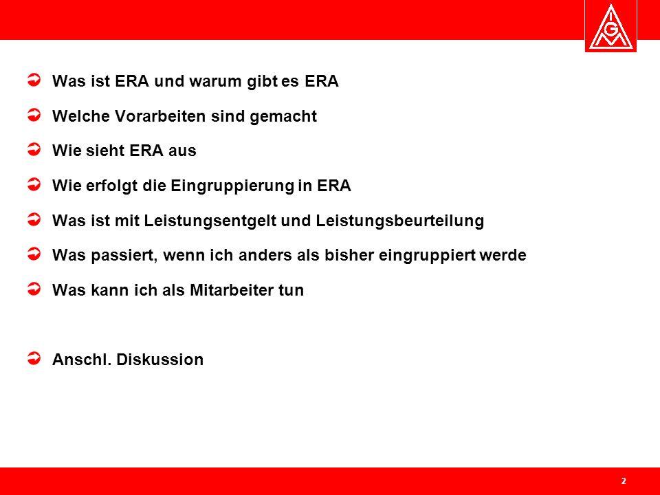Was ist ERA und warum gibt es ERA