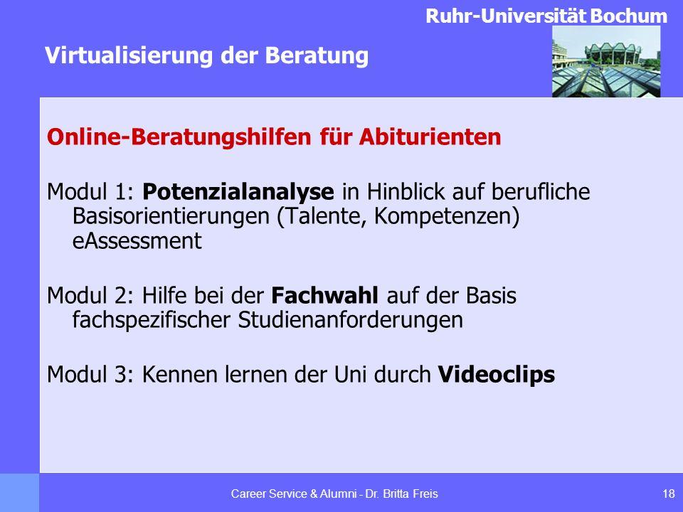 Career Service & Alumni - Dr. Britta Freis