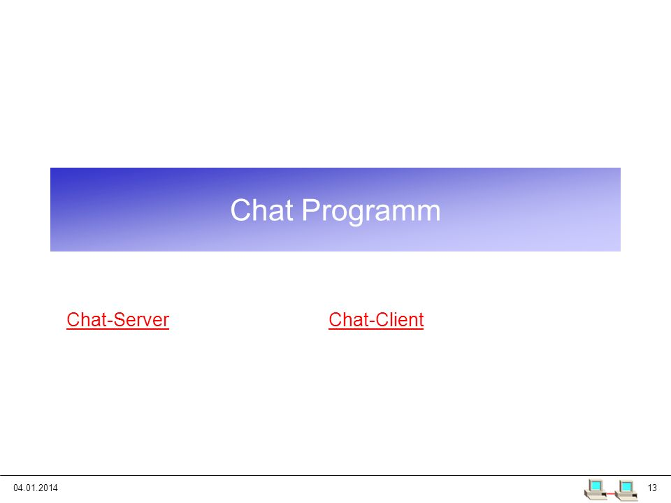 Chat Programm Chat-Server Chat-Client 25.03.2017