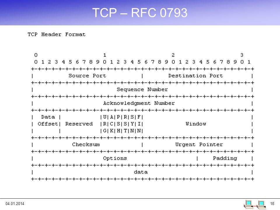 TCP – RFC 0793 25.03.2017