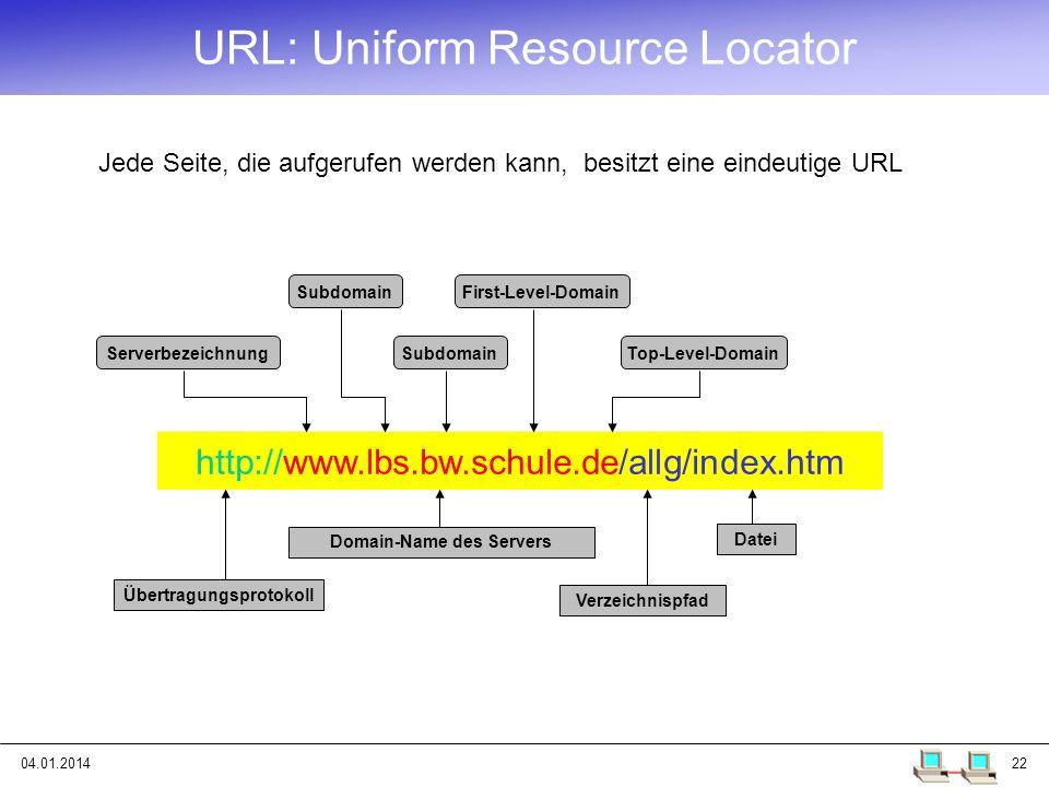 URL: Uniform Resource Locator