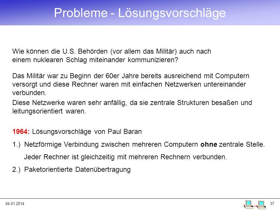 Probleme - Lösungsvorschläge
