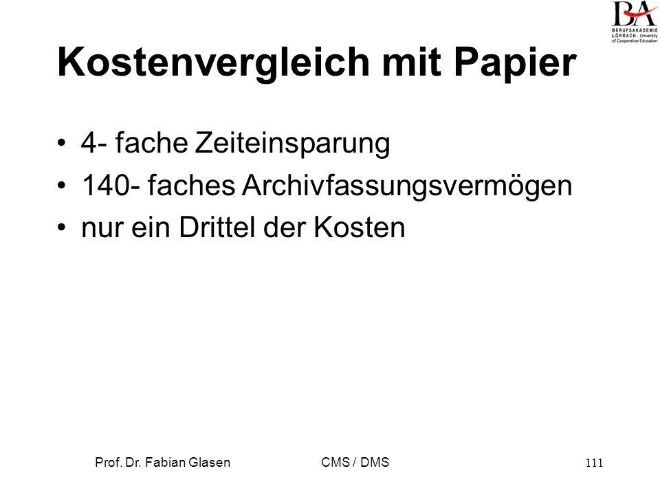Kostenvergleich mit Papier