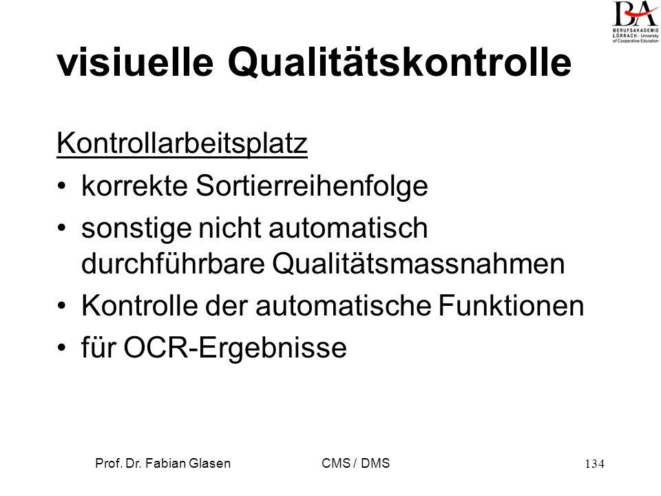 visiuelle Qualitätskontrolle
